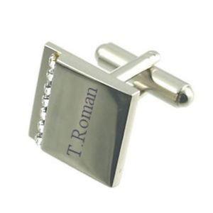 【送料無料】メンズアクセサリ― メッセージボックスカフスリンクengraved crystal cufflinks in message box