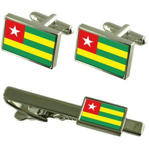 【送料無料】メンズアクセサリ― トーゴカフスボタンタイクリップマッチングボックスセットtogo flag cufflinks tie clip matching box gift set