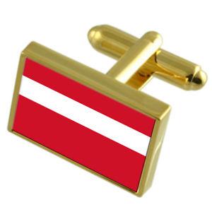 【送料無料】メンズアクセサリ― ファドゥーツリヒテンシュタインシティゴールドフラッグカフスボタンボックスvaduz city liechtenstein gold flag cufflinks engraved box