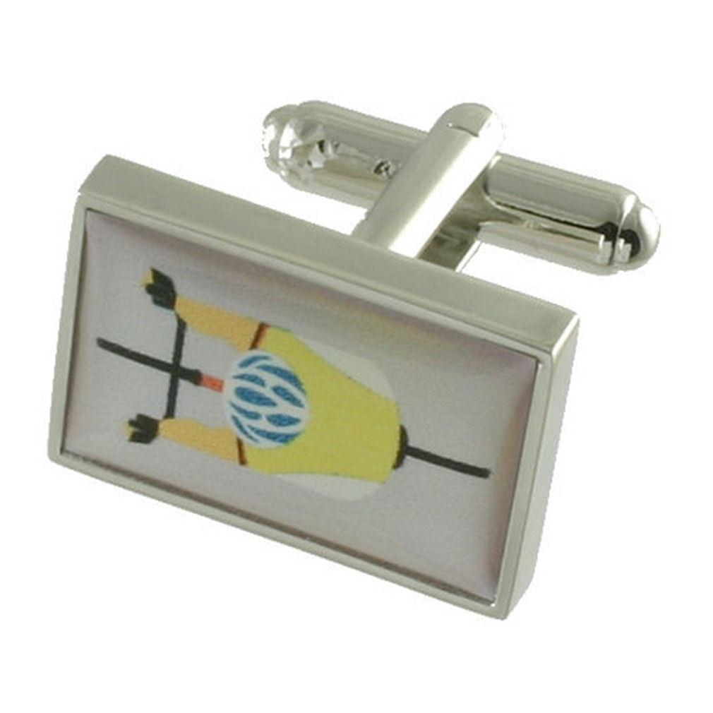 【送料無料】メンズアクセサリ― カフリンクスカフスボタンスポーツボックスオンcuff links sports cufflinks bicycle engraved personalised box