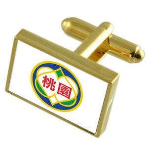 【送料無料】メンズアクセサリ― ゴールドフラッグカフスボタンボックスtaoyuan city taiwan gold flag cufflinks engraved box
