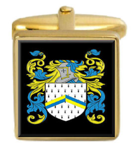 【送料無料】メンズアクセサリ― アイルランドカフスボタンボックスコートreaper ireland family crest surname coat of arms gold cufflinks engraved box