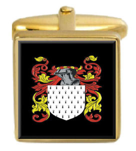 【送料無料】メンズアクセサリ― グリーンアイルランドカフスボタンボックスコートgreene ireland family crest surname coat of arms gold cufflinks engraved box