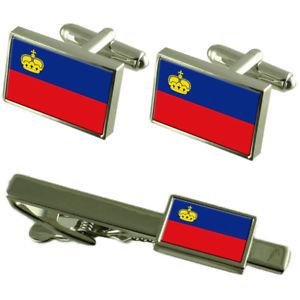 【送料無料】メンズアクセサリ― リヒテンシュタインカフスボタンタイクリップマッチングボックスセットliechtenstein flag cufflinks tie clip matching box gift set