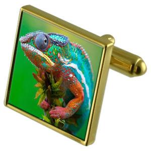 【送料無料】メンズアクセサリ― イグアナカフスボタンクリスタルタイクリップセットiguana goldtone cufflinks crystal tie clip gift set