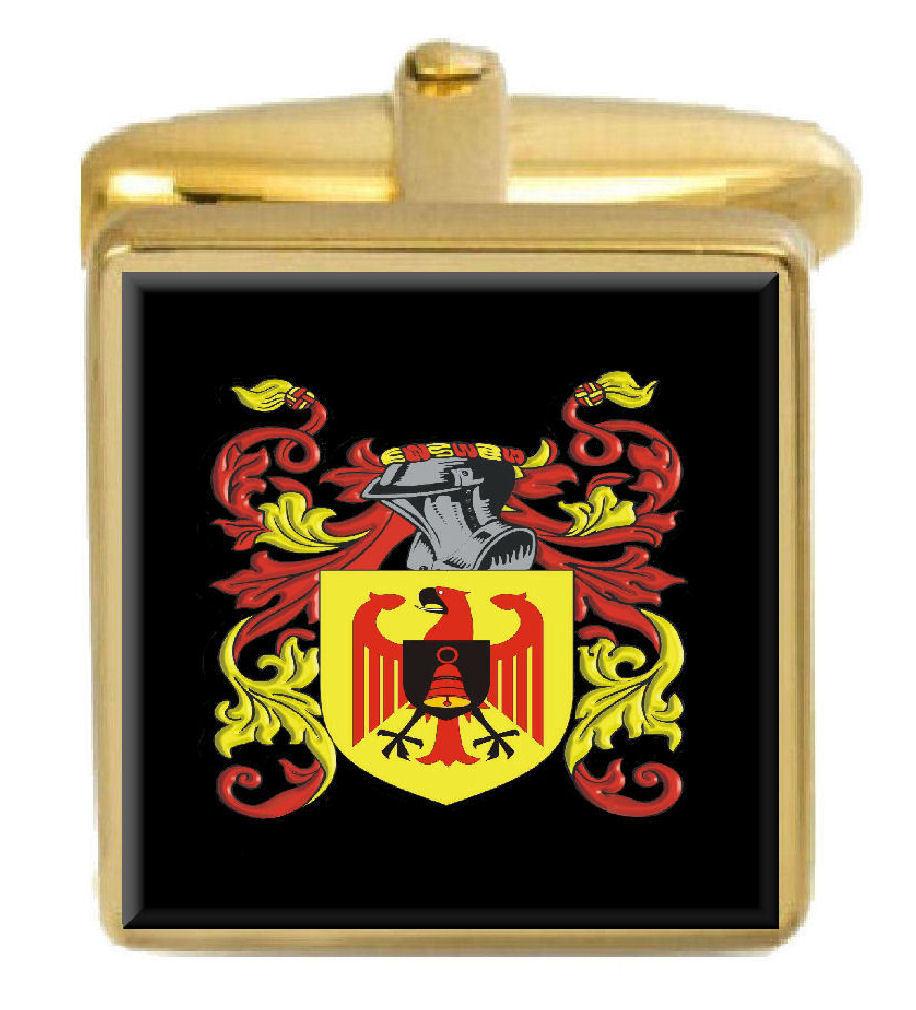 【送料無料】メンズアクセサリ― フランシスアイルランドカフスボタンボックスコートfrancis ireland family crest surname coat of arms gold cufflinks engraved box