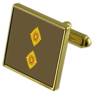 【送料無料】メンズアクセサリ― ランクカフスボタンクリスタルタイクリップセットarmy insignia rank lieutenant goldtone cufflinks crystal tie clip gift set