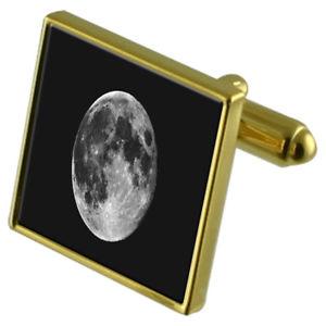 【送料無料】メンズアクセサリ― カフスボタンクリスタルタイクリップセットmoon goldtone cufflinks crystal tie clip gift set