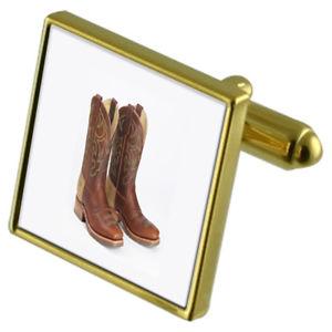 【送料無料】メンズアクセサリ― カウボーイブーツカフスボタンクリスタルタイクリップセットcowboy boots goldtone cufflinks crystal tie clip gift set