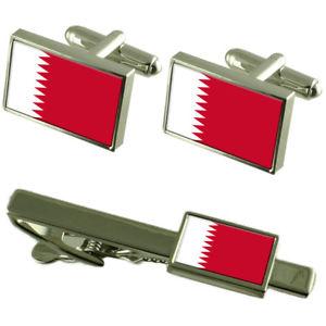 【送料無料】メンズアクセサリ― カタールカフスボタンタイクリップマッチングボックスセットqatar flag cufflinks tie clip matching box gift set