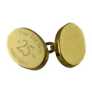 格安人気 【送料無料】メンズアクセサリ― メッセージボックスチェーンカフリンクスhappy anniversary goldtone chain cufflinks engraved in message box, witch 5e6ea316