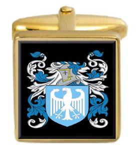 【送料無料】メンズアクセサリ― イギリスカフスボタンボックスコートsmeaton england family crest surname coat of arms gold cufflinks engraved box