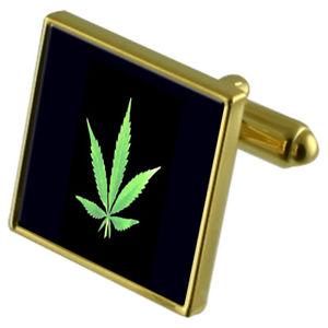 【送料無料】メンズアクセサリ― リーフカフスボタンクリスタルタイクリップセットsmokers leaf goldtone cufflinks crystal tie clip gift set