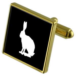 【送料無料】メンズアクセサリ― カフスボタンクリスタルタイクリップセットhare goldtone cufflinks crystal tie clip gift set