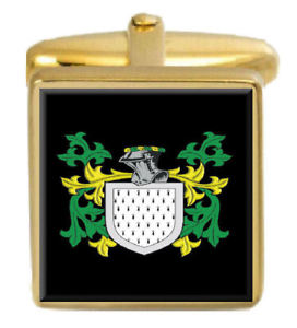 【送料無料】メンズアクセサリ― reaichスコットランドカフスリンクreaich scotland family crest surname coat of arms gold cufflinks engraved box
