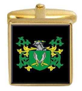 【送料無料】メンズアクセサリ― ゴールドカフスリンクthorp england family crest surname coat of arms gold cufflinks engraved box