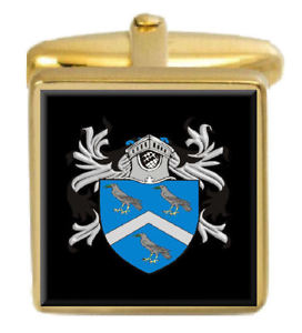 【送料無料】メンズアクセサリ― デュークイングランドカフスボタンボックスコートduke england family crest surname coat of arms gold cufflinks engraved box