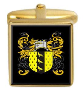 【送料無料】メンズアクセサリ― ニコルソンイングランドカフスボタンボックスコートnicholson england family crest surname coat of arms gold cufflinks engraved box