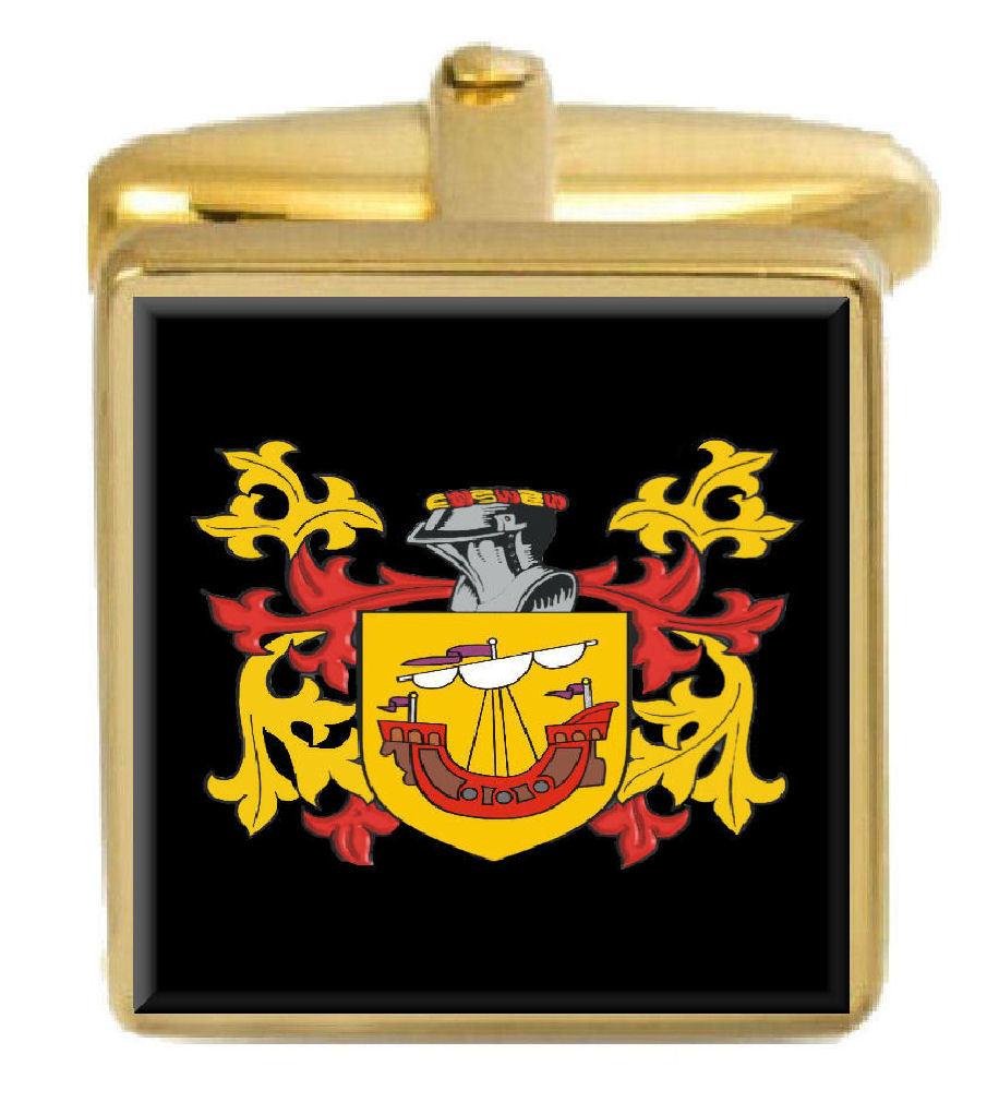 【送料無料】メンズアクセサリ― ウィルビーゴールドカフスリンクwilby england family crest surname coat of arms gold cufflinks engraved box