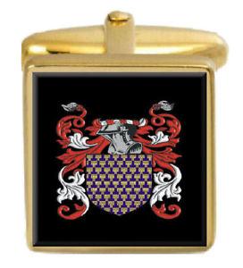 【送料無料】メンズアクセサリ― goligherアイルランドカフスリンクgoligher ireland family crest surname coat of arms gold cufflinks engraved box