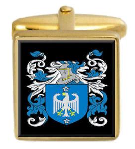 【送料無料】メンズアクセサリ― tuttonゴールドカフスリンクtutton england family crest surname coat of arms gold cufflinks engraved box
