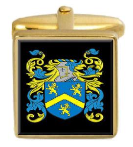 【送料無料】メンズアクセサリ― クラークイングランドカフスボタンボックスコートclarke england family crest surname coat of arms gold cufflinks engraved box