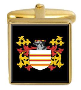 【送料無料】メンズアクセサリ― dillowカフスリンクdillow england family crest surname coat of arms gold cufflinks engraved box