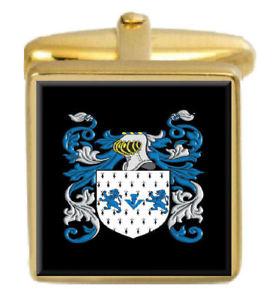 【送料無料】メンズアクセサリ― lagdenカフスリンクlagden england family crest surname coat of arms gold cufflinks engraved box