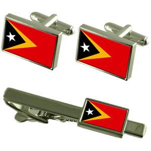 【送料無料】メンズアクセサリ― ティモールカフスボタンタイクリップマッチングボックスセットeast timor flag cufflinks tie clip matching box gift set