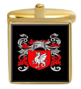 【送料無料】メンズアクセサリ― ブレントイングランドカフスボタンボックスコートbrent england family crest surname coat of arms gold cufflinks engraved box