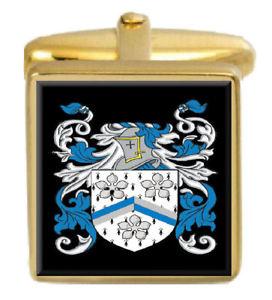 【送料無料】メンズアクセサリ― ダンハムゴールドカフスリンクdunham england family crest surname coat of arms gold cufflinks engraved box