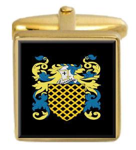 【送料無料】メンズアクセサリ― bellewカフスリンクbellew england family crest surname coat of arms gold cufflinks engraved box