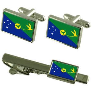 【送料無料】メンズアクセサリ― クリスマスカフスボタンタイクリップマッチングボックスセットchristmas island flag cufflinks tie clip matching box gift set