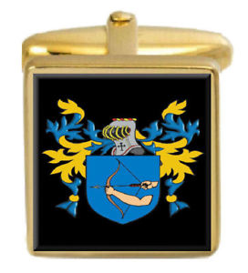 【送料無料】メンズアクセサリ― ヘーリーゴールドカフスリンクhaley england family crest surname coat of arms gold cufflinks engraved box