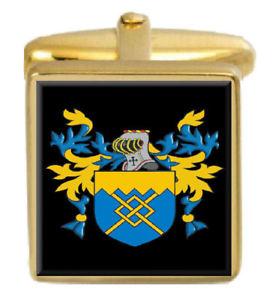 【送料無料】メンズアクセサリ― bealカフスリンクbeal england family crest surname coat of arms gold cufflinks engraved box