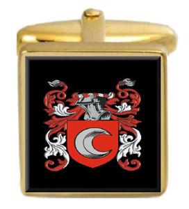【送料無料】メンズアクセサリ― keyleカフスリンクkeyle england family crest surname coat of arms gold cufflinks engraved box