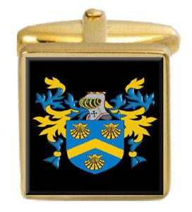 【送料無料】メンズアクセサリ― スコットランドカフスボタンボックスコートmaccall scotland family crest surname coat of arms gold cufflinks engraved box