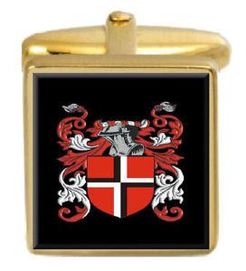 【送料無料】メンズアクセサリ― カフスリンクpark england family crest surname coat of arms gold cufflinks engraved box