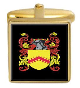 【送料無料】メンズアクセサリ― cawseyカフスリンクcawsey england family crest surname coat of arms gold cufflinks engraved box