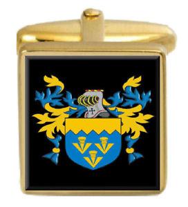 【送料無料】メンズアクセサリ― レッグカフスリンクlegg england family crest surname coat of arms gold cufflinks engraved box
