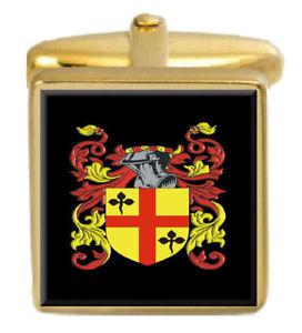 【送料無料】メンズアクセサリ― カフスリンクtrim england family crest surname coat of arms gold cufflinks engraved box