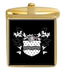 【送料無料】メンズアクセサリ― ベイリーイングランドカフスボタンボックスコートbailey england family crest surname coat of arms gold cufflinks engraved box