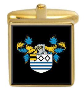 【送料無料】メンズアクセサリ― スタンフォードイングランドカフスボタンボックスコートstanford england family crest surname coat of arms gold cufflinks engraved box