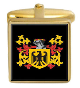 【送料無料】メンズアクセサリ― イギリスカフスボタンボックスコートwillsea england family crest surname coat of arms gold cufflinks engraved box