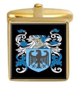 【送料無料】メンズアクセサリ― イギリスカフスボタンボックスコートjessiman england family crest surname coat of arms gold cufflinks engraved box