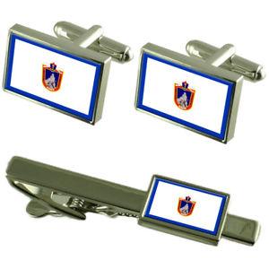 【送料無料】メンズアクセサリ― チリカフスボタンタイクリップボックスセットmaipu city chile flag cufflinks tie clip box gift set