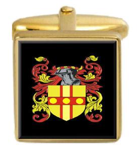 【送料無料】メンズアクセサリ― イギリスカフスボタンボックスコートjellicoe england family crest surname coat of arms gold cufflinks engraved box