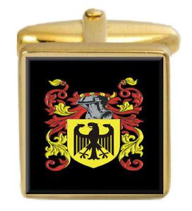 【送料無料】メンズアクセサリ― イギリスカフスボタンボックスコートellerby england family crest surname coat of arms gold cufflinks engraved box