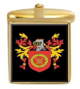 【送料無料】メンズアクセサリ― イギリスカフスボタンボックスコートscotthon england family crest surname coat of arms gold cufflinks engraved box
