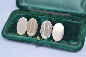 【送料無料】メンズアクセサリ― ビンテージスターリングシルバーアールデコデザインカフリンクスvintage sterling silver cufflinks with an art deco design b547
